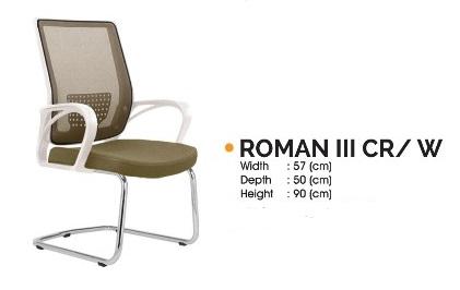 Roman III CR W - Kursi Kantor Ichiko Roman III CR/W
